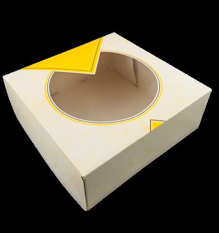 Tortenkarton mit Sichtenster 26x26x10 cm 25 Stück