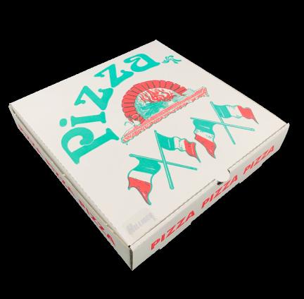 Pizzakartons 24x24x4,5 cm 'Fahne' 200 St.