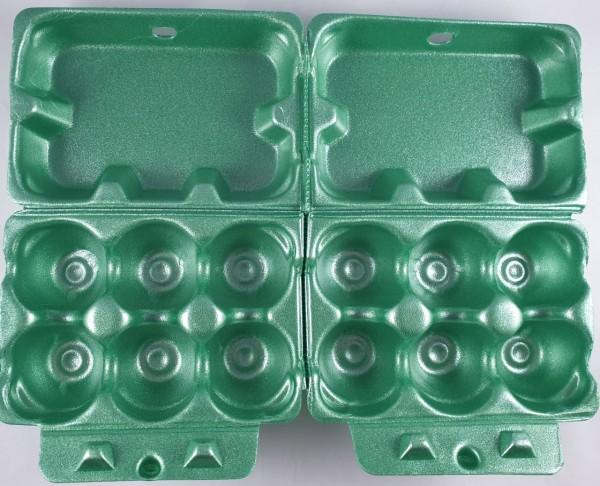 Eierverpackung 2x6er grün VE 100 St.Eierpappe