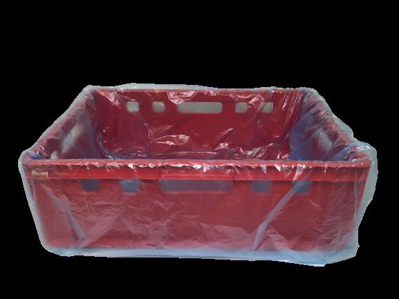 HDPE-Säcke für E 2-Kisten blau-transparent VE 500 St.