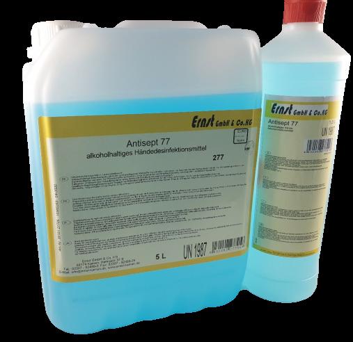 Antisept 77 Händedesinfektionsmittel Alkohol 1l Flasche /5l Kan.