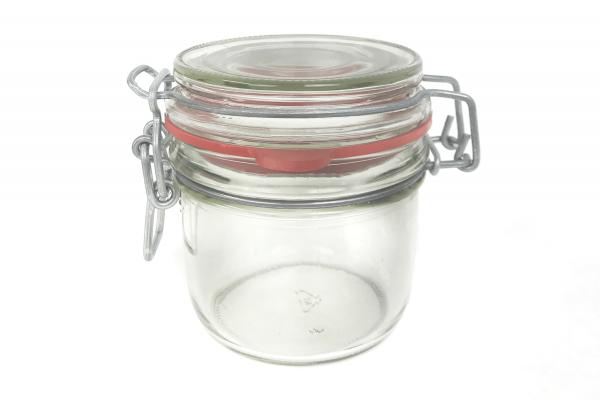 Bügelgläser Drahtbügelglas Weißglas rund
